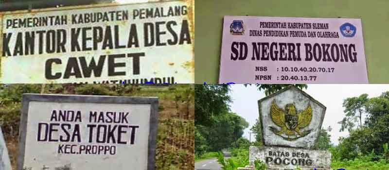 plang nama desa