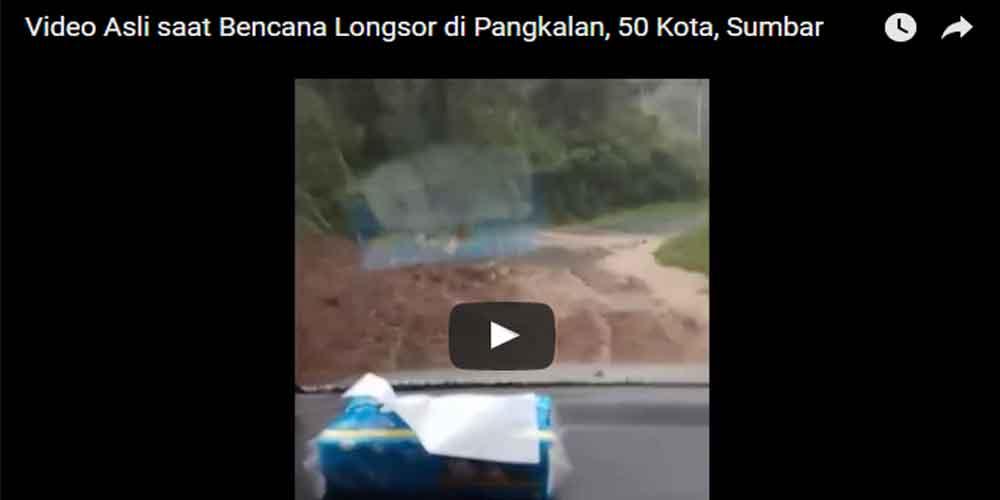 video longsor pangkalan asli