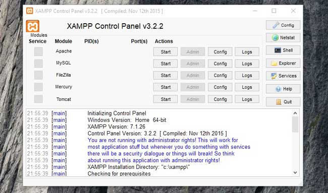 Control Panel Software Xampp