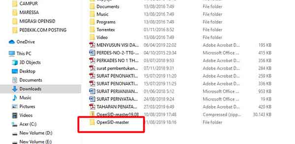 download opensid file zip